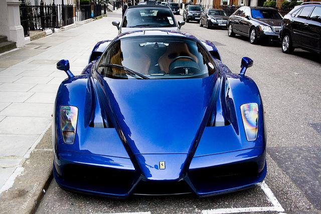 源自法国 blue tour de france ferrari laferrari 稀有涂装亮相高清图片