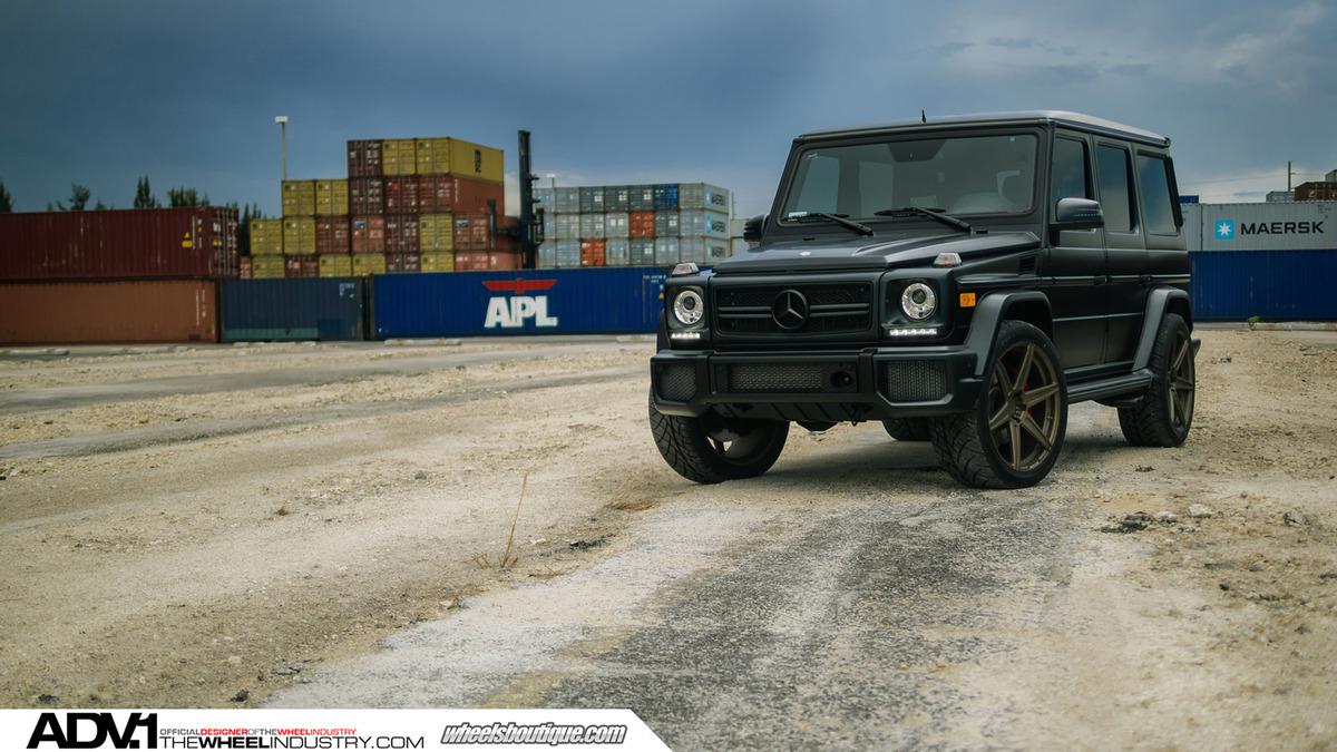 消光爱恋 Mercedes Benz G63 AMG x ADV.1 Wheels高清图片
